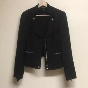 White House Black Market Moto inspired blazer